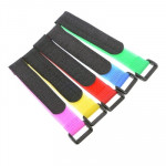5 PCS 200mm Velcro Battery Strap Reusable Cable Tie Wrap