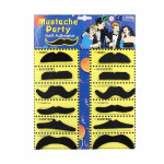 12 PCS Funny Halloween Props Self-adhesive Fake Mustaches Kit