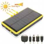 2600mAh Mobile Phone Emergency Power Station with Solar Charger & LED Flash Light for iPhone 5 / iPhone 4 / Samsung i9500 / Noki