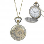 Playing Card Pattern Zinc Alloy Quartz Waterproof Pocket Watch