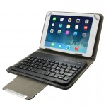 Universal Leather Case with Separable Bluetooth Keyboard and Holder for 10.1 inch Tablet PC(Black)