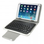 Universal Leather Case with Separable Bluetooth Keyboard and Holder for 10.1 inch Tablet PC(White)