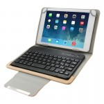 Universal Leather Case with Separable Bluetooth Keyboard and Holder for 10.1 inch Tablet PC(Brown)