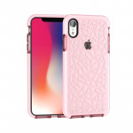 Coque Etui TPU Diamond Texture pour iPhone X / XS Rose - Wewoo