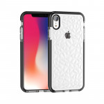 Diamond Texture TPU Case for iPhone X / XS (Black)
