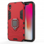 PC + TPU Shockproof Protective Case with Magnetic Ring Holder For iPhone X / XS (Red)