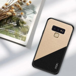 MOFI Shockproof TPU + PC + Cloth Pasted Case for Galaxy Note 9(Gold)