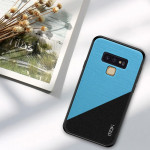 MOFI Shockproof TPU + PC + Cloth Pasted Case for Galaxy Note 9(Blue)