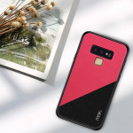 MOFI Shockproof TPU + PC + Cloth Pasted Case for Galaxy Note 9(Rose Red)