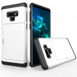 Shockproof Rugged Armor Protective Case for Galaxy Note 9, with Card Slot(White)