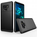 Shockproof Rugged Armor Protective Case for Galaxy Note 9, with Card Slot(Black)