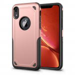 Coque de protection antichoc robuste pour iPhone XR (or rose) - Wewoo