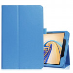 Litchi Texture Horizontal Flip Leather Case for Samsung Galaxy Tab S4 10.5 T830 / T835, with Holder (Blue)