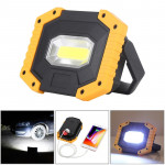 30W White Light COB LED Working Light, 2 x 18650 or 4 x AA Batteries Powered Outdoor Emergency Lamp Spotlight with Holder