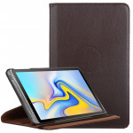 Litchi Texture Horizontal Flip 360 Degrees Rotation Leather Case for Galaxy Tab A 10.5, with Holder (Brown)