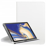 Litchi Texture Horizontal Flip 360 Degrees Rotation Leather Case for Galaxy Tab S4 10.5, with Holder (White)