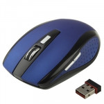 2.4 GHz 800~1600 DPI Wireless 6D Optical Mouse with USB Mini Receiver, Plug and Play, Working Distance up to 10 Meters (Blue)