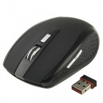 2.4 GHz 800~1600 DPI Wireless 6D Optical Mouse with USB Mini Receiver, Plug and Play, Working Distance up to 10 Meters (Black)