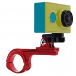 Bicycle Handlebar Holder with Connector Mount for Xiaomi Yi Sport Camera(Red)