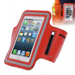 Sports Armband Case with Earphone Hole for iPhone 5 & 5C & 5S(Red)