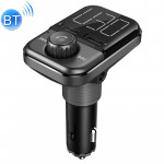 BT72 Dual USB Charging Smart Bluetooth FM Transmitter MP3 Music Player Car Kit with 1.5 inch White Display Screen, Support Bluet