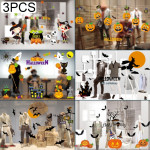 3 PCS Halloween Decorations PVC Personalized DIY Glass Electrostatic Stickers, Random Style Delivery