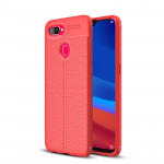 Coque antichoc TPU Litchi Texture pour OPPO F9 (rouge) - Wewoo