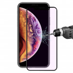 ENKAY Hat-Prince 0.2mm 9H 3D Anti Blue-ray Full Screen Carbon Fiber Tempered Glass Film for iPhone XS Max(Black)