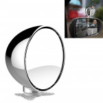 3R-044 Auxiliary Rear View Mirror Car Adjustable Blind Spot Mirror Wide Angle Auxiliary Rear View Side Mirror (Silver)