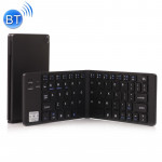 GK228 Ultra-thin Foldable Bluetooth V3.0 Keyboard, Built-in Holder, Support Android / iOS / Windows System (Black)