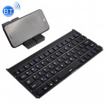 GK808 Ultra-thin Foldable Bluetooth V3.0 Keyboard, Built-in Holder, Support Android / iOS / Windows System (Black)