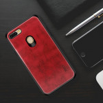 MOFI PC+TPU+PU Leather Protective Back Case for OPPO F9 (F9 Pro) (Red)