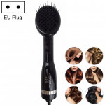 2 in 1 Multifunctional Electric Hair Dryer,Dry and Wet Negative Ion Straight Hair Comb, EU Plug (Black)