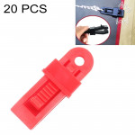 20 PCS Outdoor Tent Awnings Windproof Fixing Clip Multifunctional Wind Rope Buckle (Red)