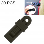 20 PCS Outdoor Tent Awnings Windproof Fixing Clip Multifunctional Wind Rope Buckle (Black)