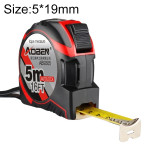 Aoben Retractable Ruler Measuring Tape Portable Pull Ruler Mini Tape Measure, Length: 5m Width: 19mm