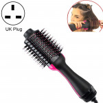 Multifunctional Infrared Negative Ion Hot Air Comb Straight Curling Hair Style Comb, UK Plug