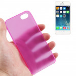 0.3mm Ultra Thin Polycarbonate Materials PC Protection Shell for iPhone 5 & 5s & SE (Magenta)