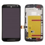 iPartsBuy for Motorola Moto G (2nd Gen.) 3 in 1 (LCD + Frame + Touch Pad) Digitizer Assembly(Black)