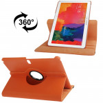 360 Degree Rotatable Litchi Texture Leather Case with 2-angle Viewing Holder for Galaxy Tab Pro 10.1 / T520(Orange)