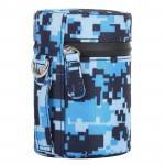 Camouflage Color Small Lens Case Zippered Cloth Pouch Box for DSLR Camera Lens, Size: 11x8x8cm (Blue)