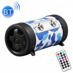 4 inch Round Shape Stereo Motorcycle / Car / Household Subwoofer, Built-in Bluetooth, Support TF Card & U Disk Reader, with Remo