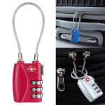 JASIT TSA719 Zinc Alloy 3-Digit Password TSA Lock Travel Luggage Padlock(Rose Red)