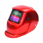 Solar Automatic Variable Light Electric Welding Protective Mask Welding Helmet(Red)