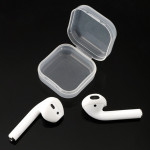 2 PCS Wireless Bluetooth Earphone Silicone Ear Caps Earpads with Storage Box for Apple AirPods (White)
