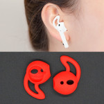 Wireless Bluetooth Earphone Silicone Ear Caps Earpads for Apple AirPods (Red)