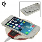 FANTASY Wireless Charger & 8Pin Wireless Charging Receiver for iPhone 6 Plus / 6 / 5S / 5C / 5(Black)