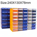 Thickened Combined Plastic Parts Cabinet Drawer Type Component Box Building Block Material Box Hardware Box, Random Color Delive