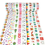 10 Volumes A Series Hand Can Tear Cartoon Christmas Day DIY Decorative Stationery Paper Hand Paper Color and Paper Tape