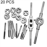 20 PCS Multi-specification Tap and Die Combination Set Hand Metric Wire Tapping Wrench Winch